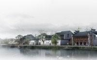Деревня у озера