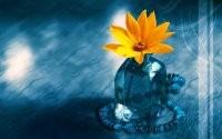 Цветочек в вазе