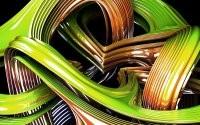 Блестящие линии и изгибы