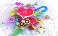 Сердечки и кружочки