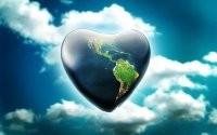 Сердце с материками