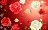 Рисованные розы