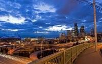 Огни вечернего мегаполиса