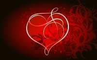 Сердце на красном