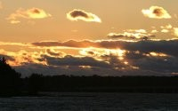 Солнце на закате дня