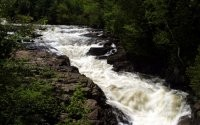 Бурные потоки воды