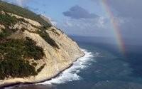 Радуга, гора и море