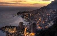 Ночной город с горы