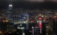 Яркий ночной город