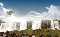 Фэнтезийный водопад