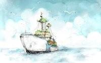Рисованный корабль