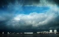 Грозовые облака над городом