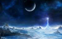 Луна на северном полюсе