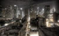 Подсветка ночного города