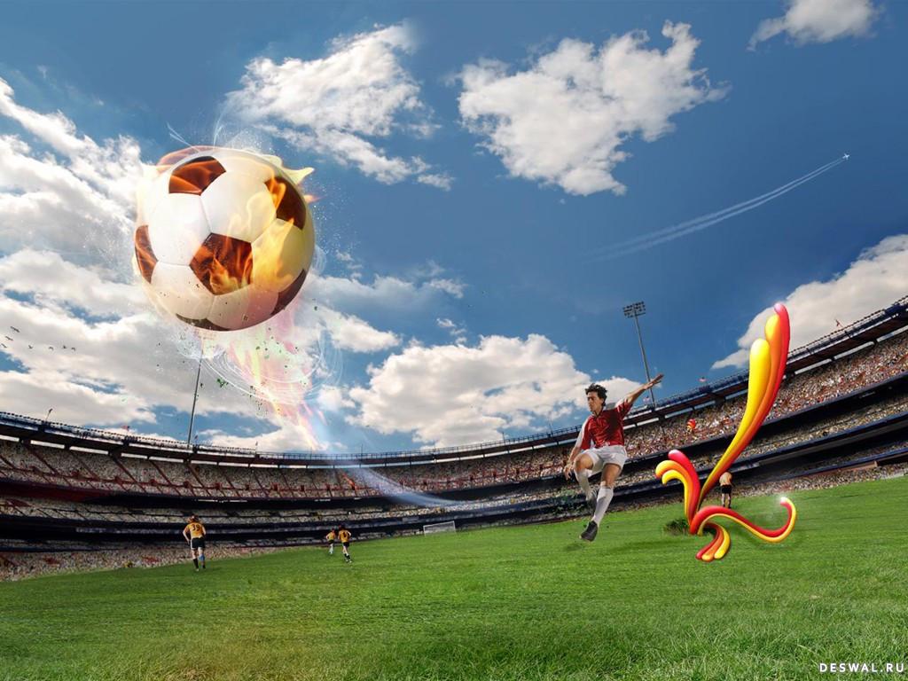 футбол 3d обои на рабочий стол № 648493 бесплатно