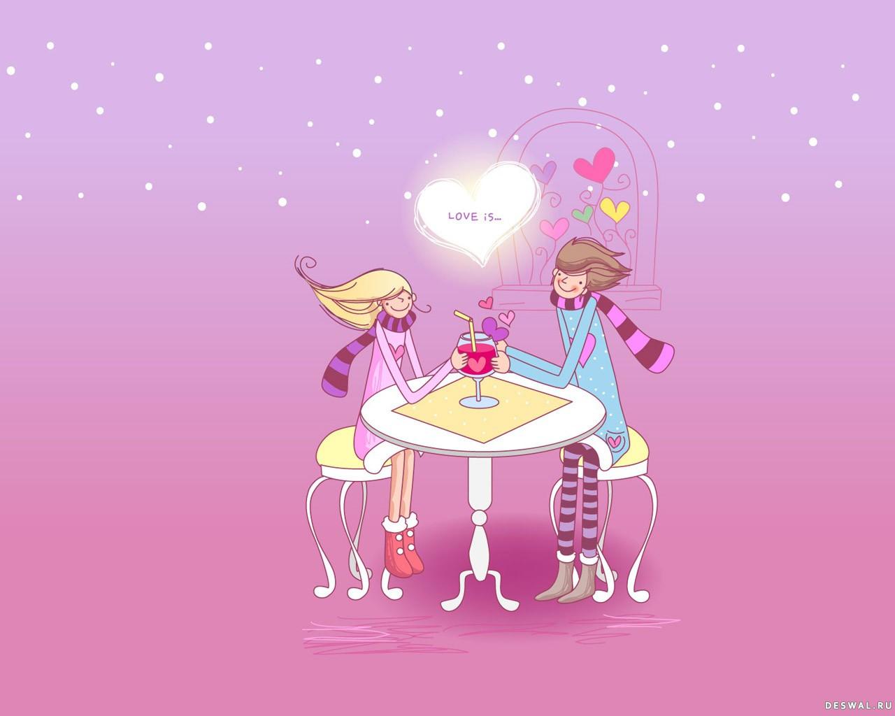 Фото 17. Нажмите на картинку с романтическими обоями - любовь, чтобы просмотреть ее в реальном размере