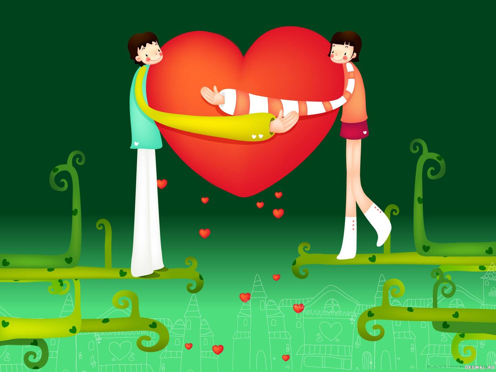 Фото 3. Нажмите на картинку с романтическими обоями - любовь, чтобы просмотреть ее в реальном размере
