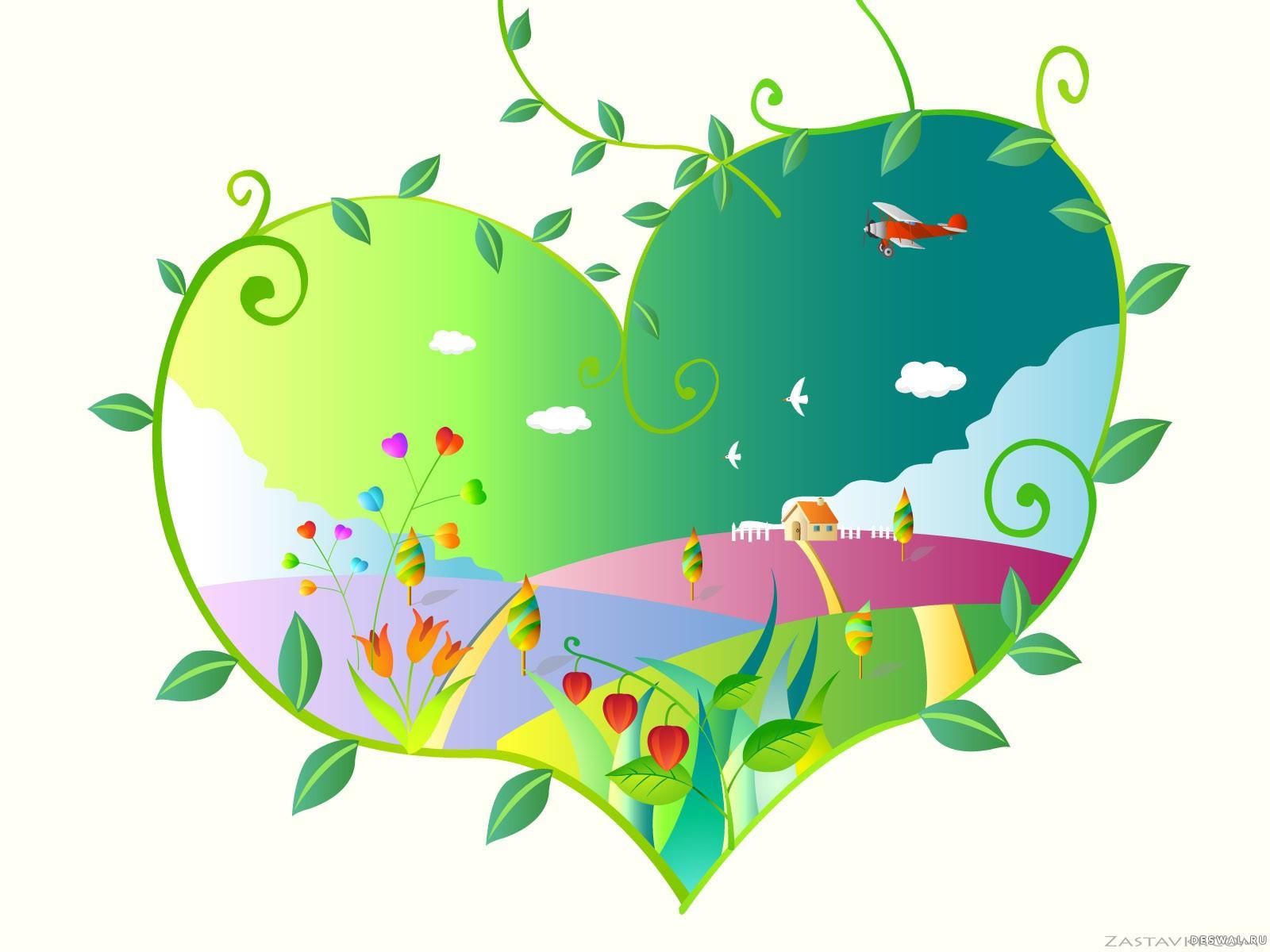 Фото 19. Нажмите на картинку с романтическими обоями - любовь, чтобы просмотреть ее в реальном размере