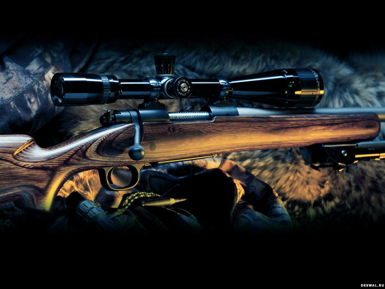 Обои на рабочий стол охота оружие