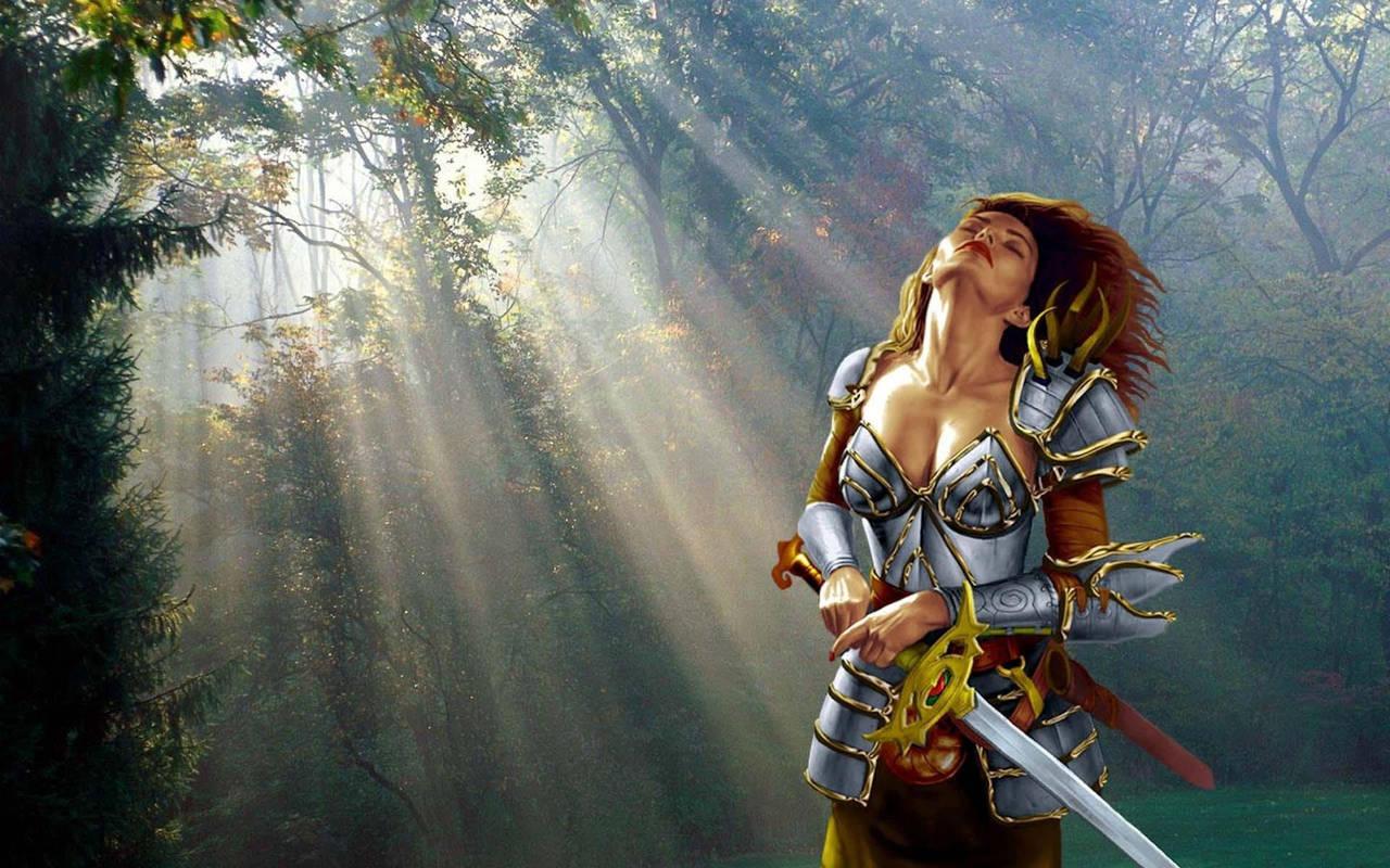 Сексуальные девушка с мечом 13 фотография