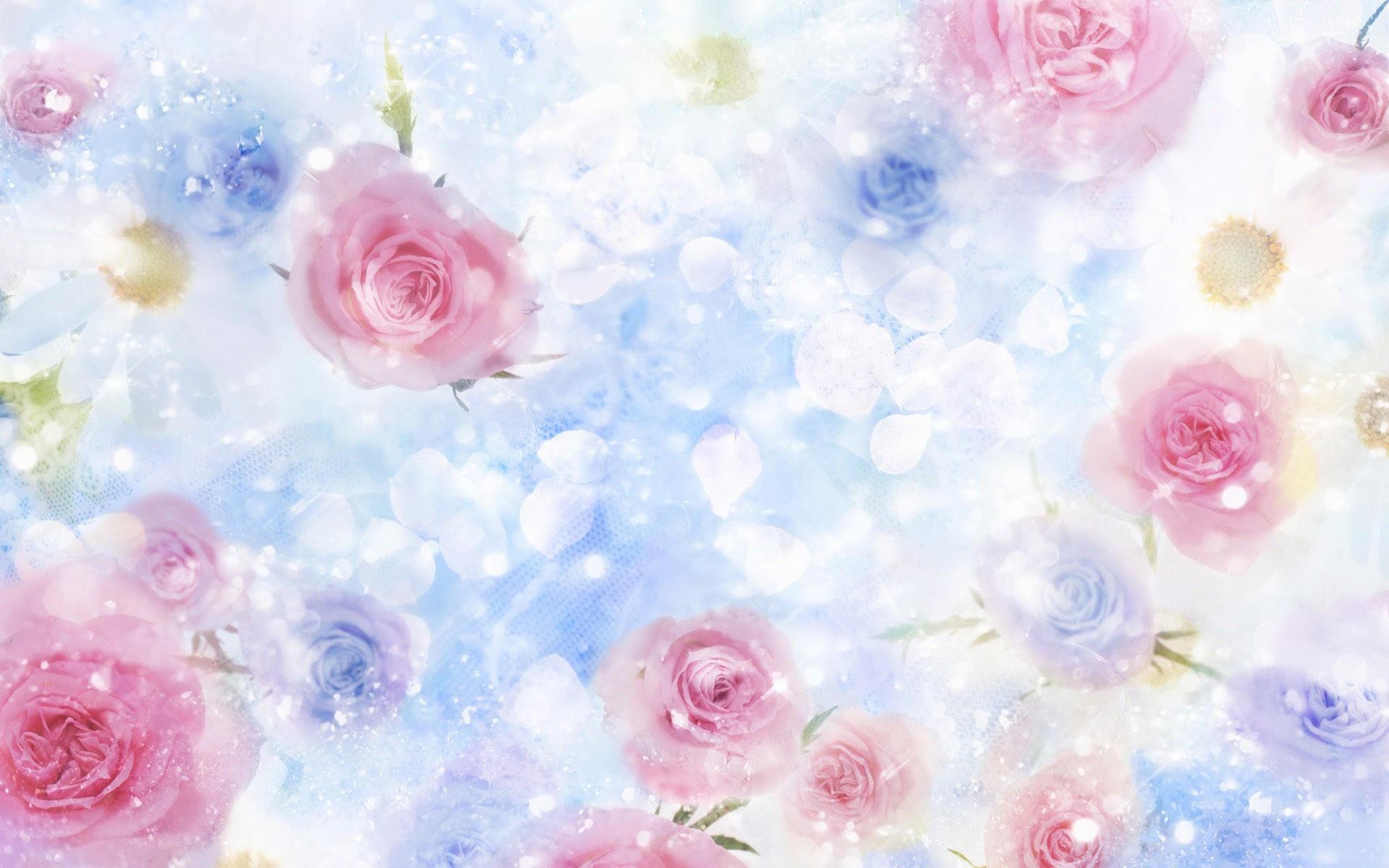 Розы и лепесточки