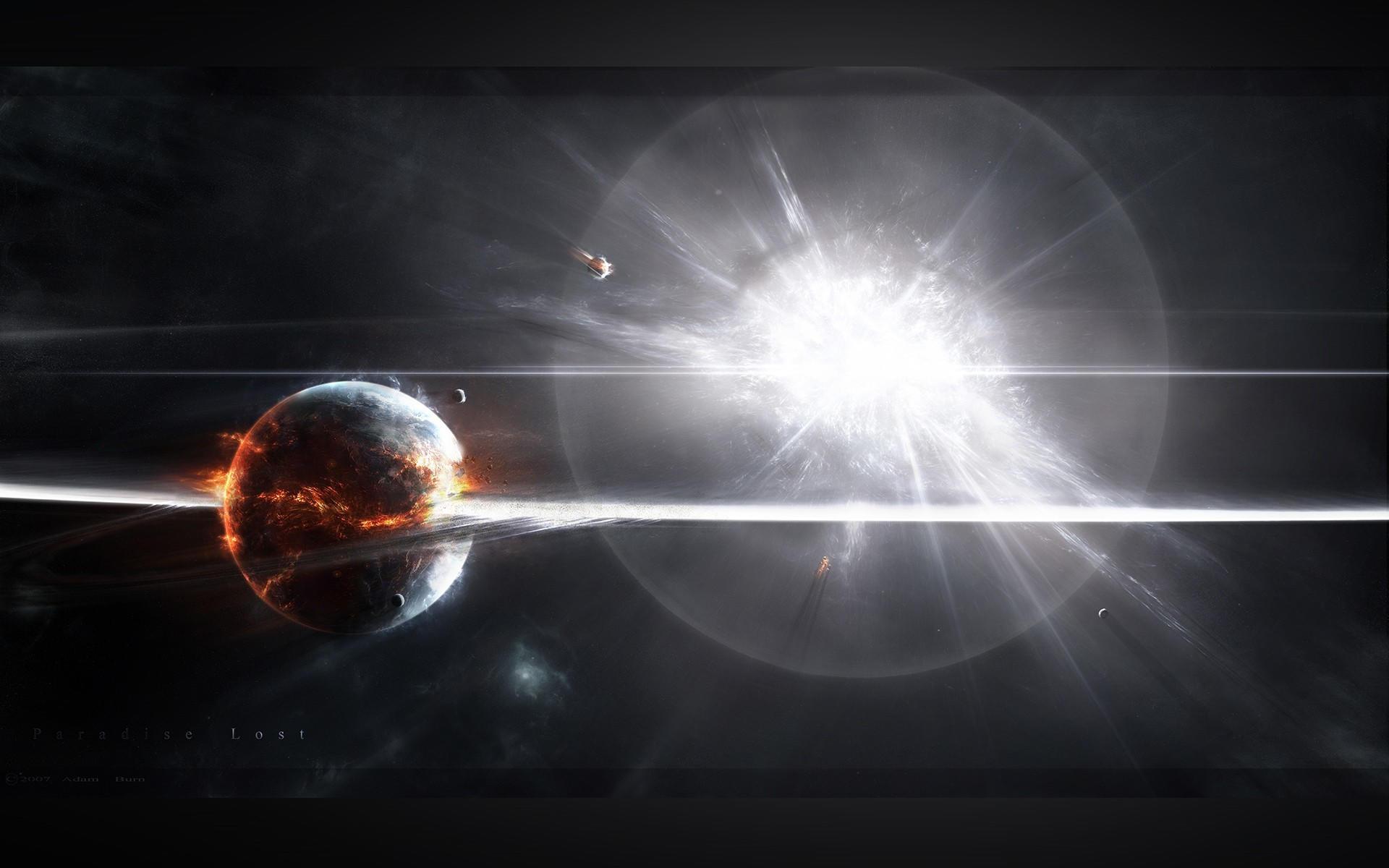 Мощный взрыв планеты